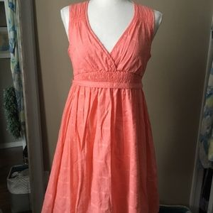NWOT Textured S.O. Coral Dress